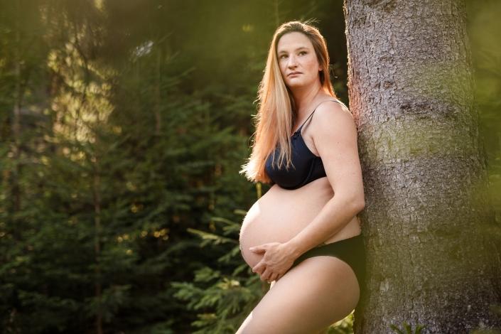 Babybauch Wald Baum
