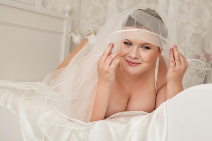 Boudoir Bett Braut
