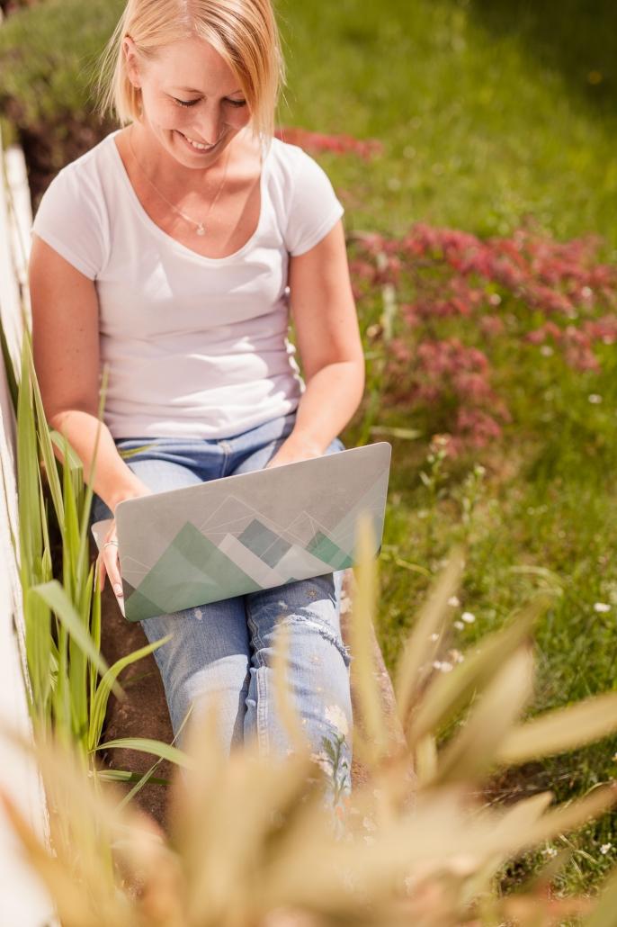 Personality Portrait Outdoor Laptop