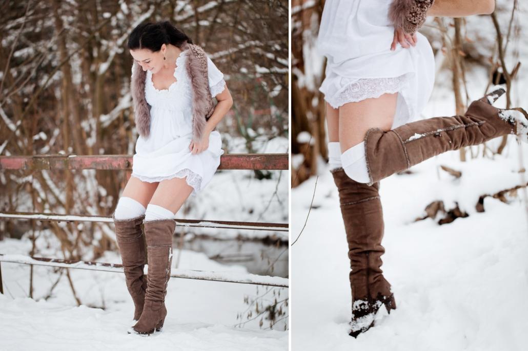 Portrait Natur Winter Schnee