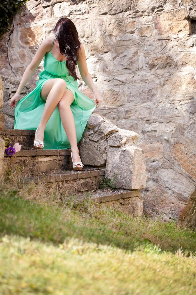 Portrait Natur Sommer Treppe